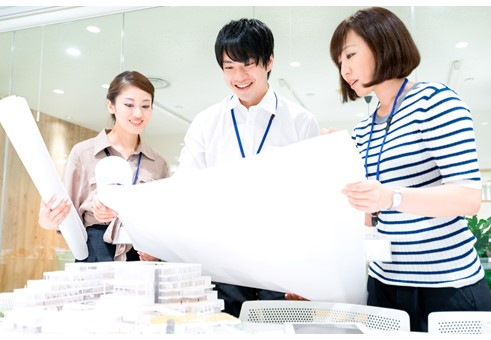 大手設計会社のグループ企業で設計アシスタント業務